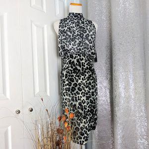 🆕 NY & CO Dress Sleeveless Animal print Sz S